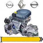 ✔ Моторний відсік - дв. 1,6L 2014- -> для Renault, Opel, Nissan