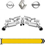 ✔ Вихлопна система - дв. 2,0L 2006-10 для Renault, Opel, Nissan