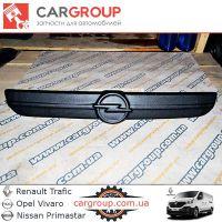 Зимняя верхняя накладка на решётку Opel Vivaro zim026
